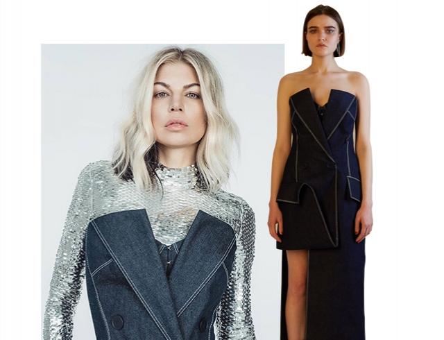 Вдохновение дня: Ферги надела платье украинского дизайнера ELENAREVA title=