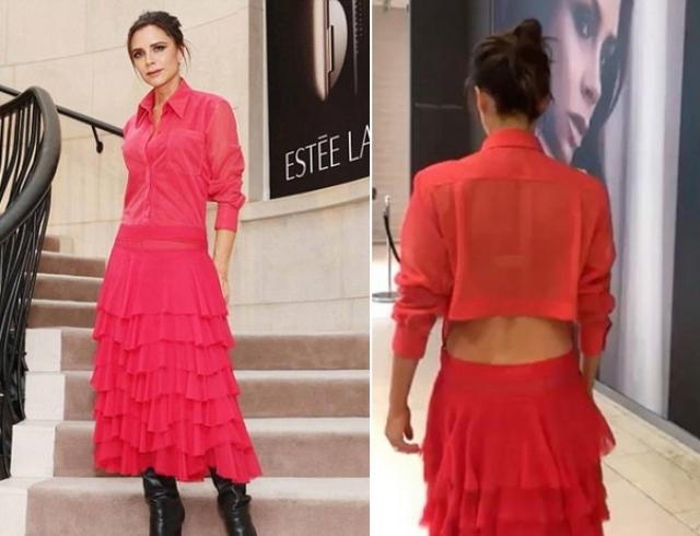 Дама в красном: Виктория Бекхэм надела роскошное красное платье на презентацию косметики в Дублине (ФОТО)
