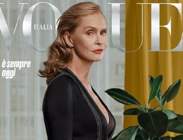 73-летняя Лорен Хаттон стала самой зрелой моделью на обложке Vogue