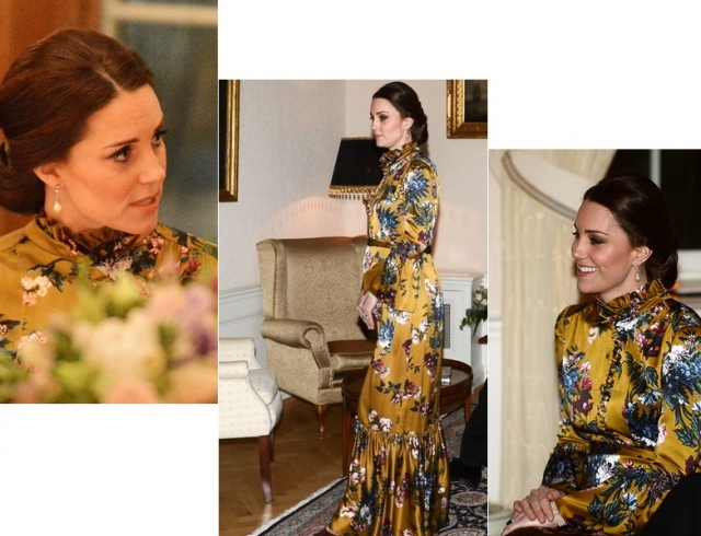 Беременная Кейт Миддлтон в горчичном платье восхитила образом