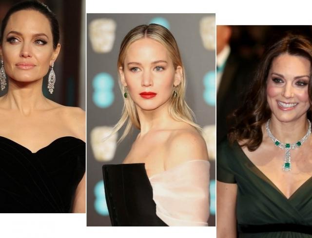 Красная дорожка BAFTA-2018: Анджелина Джоли, Кейт Миддлтон, Сальма Хайек, Дженнифер Лоуренс и другие