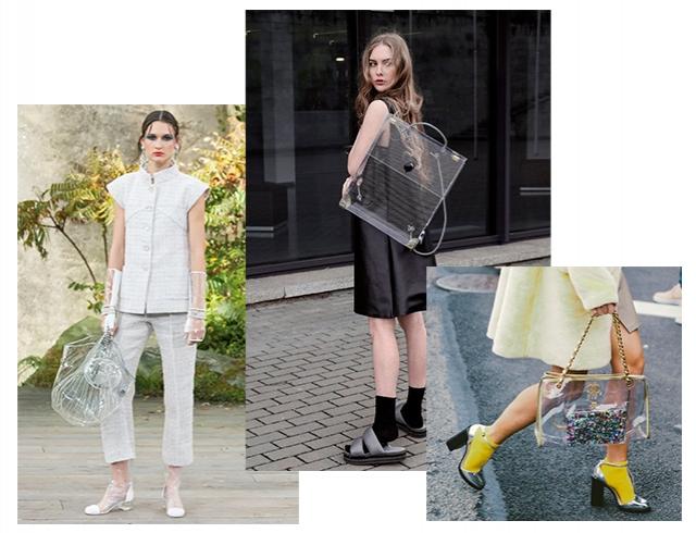 Модный тренд — пластиковая прозрачная сумка