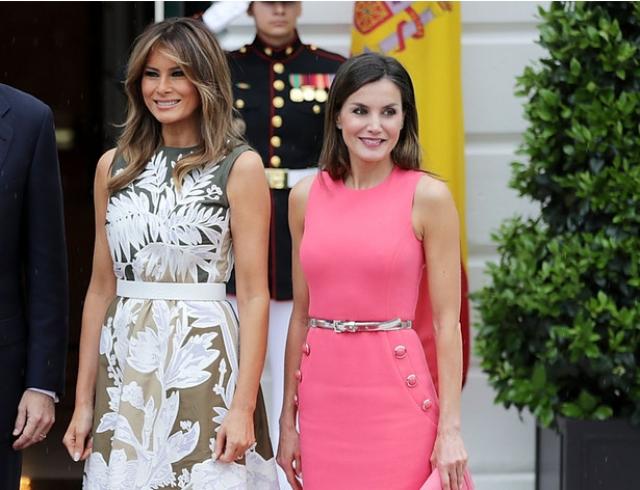 Мелания Трамп vs королева Летиция: первые леди встретились в Белом доме (ФОТО+ГОЛОСОВАНИЕ)