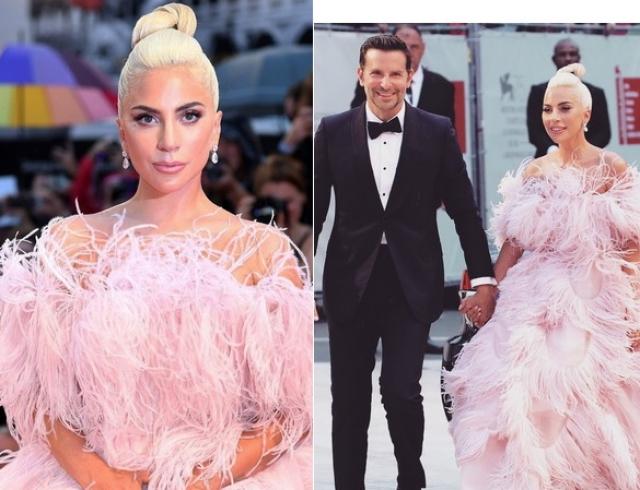 Леди Гага в платье Valentino затмила всех на Венецианском кинофестивале
