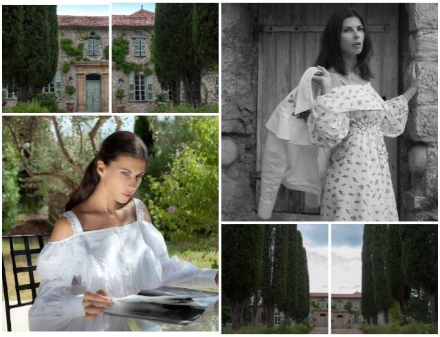 Украинская модель Алла Шереметьева побывала в замке Кристиана Диора