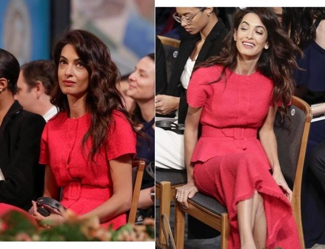 Амаль Клуни в ярком образе пришла на церемонию вручения Нобелевской премии мира