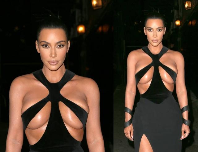 В Сети обсуждают супероткровенный образ Ким Кардашьян