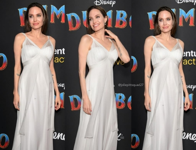 """Анджелина Джоли в белоснежном платье появилась на премьере """"Дамбо"""""""