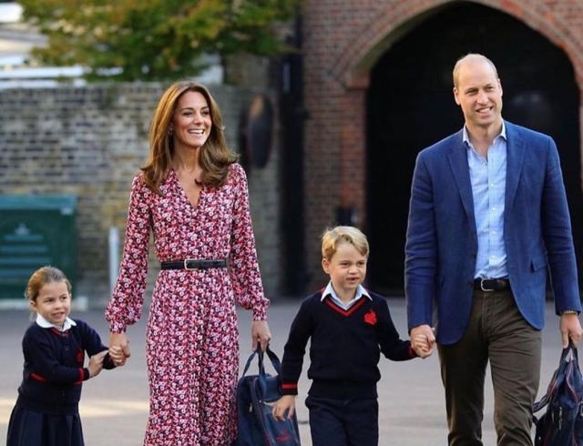 Очень трогательно: герцоги Кембриджские отвели принца Джорджа и принцессу Шарлотту в школу (ФОТО+ВИДЕО)