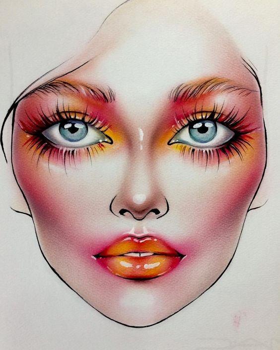 Не оторваться: визажисты рисуют на бумаге макияж, и это потрясающе красиво - галерея №0 - фото №18
