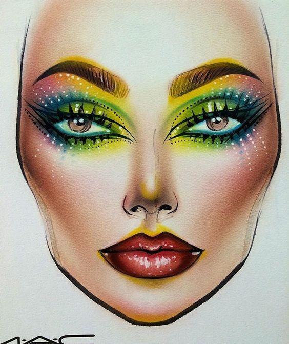 Не оторваться: визажисты рисуют на бумаге макияж, и это потрясающе красиво - галерея №0 - фото №2