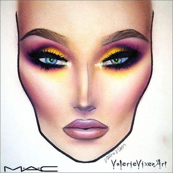 Не оторваться: визажисты рисуют на бумаге макияж, и это потрясающе красиво - галерея №0 - фото №8