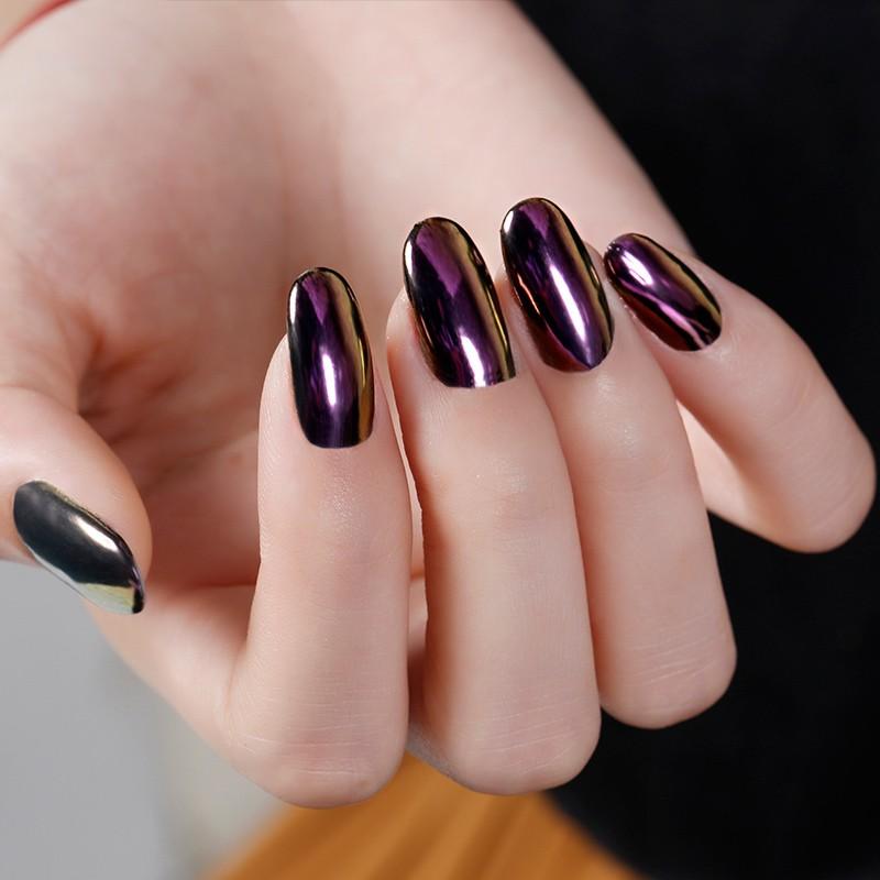 Натирка блестками ногти