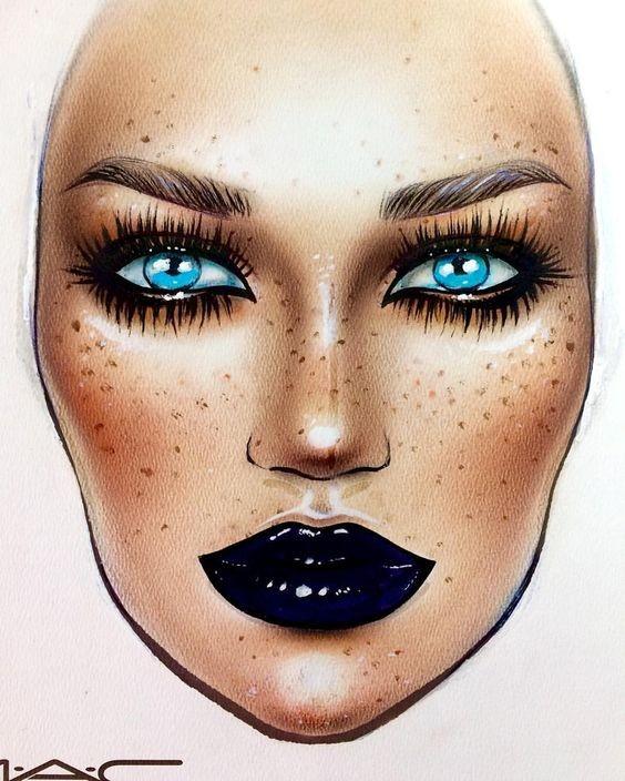 Не оторваться: визажисты рисуют на бумаге макияж, и это потрясающе красиво - галерея №0 - фото №17