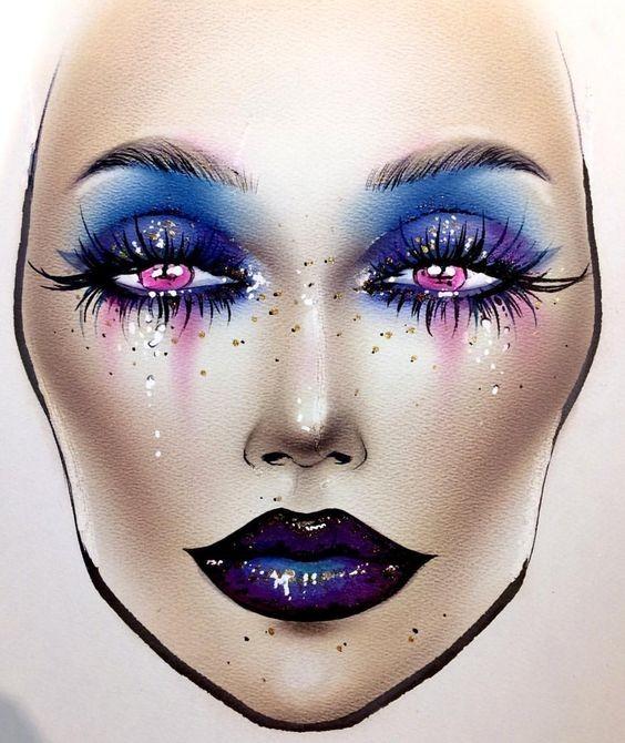 Не оторваться: визажисты рисуют на бумаге макияж, и это потрясающе красиво - галерея №0 - фото №24
