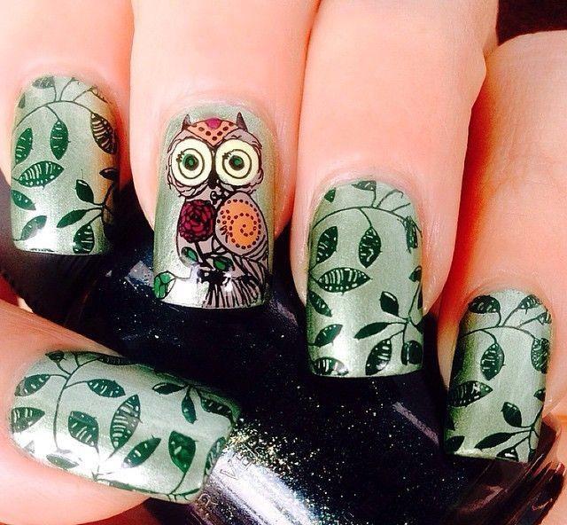 новогодняя сова рисунок на ногтях запросу лазерная резка
