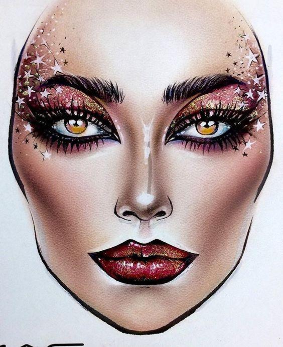 Не оторваться: визажисты рисуют на бумаге макияж, и это потрясающе красиво - галерея №0 - фото №19