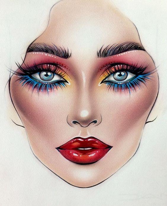 Не оторваться: визажисты рисуют на бумаге макияж, и это потрясающе красиво - галерея №0 - фото №23