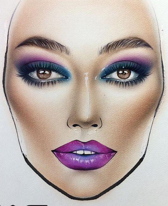 Не оторваться: визажисты рисуют на бумаге макияж, и это потрясающе красиво - галерея №0 - фото №11